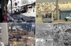 """Montage of the Syrian Civil War"" By Collective [CC BY 1.0 (http://creativecommons.org/licenses/by/1.0)], via Wikimedia Commons"